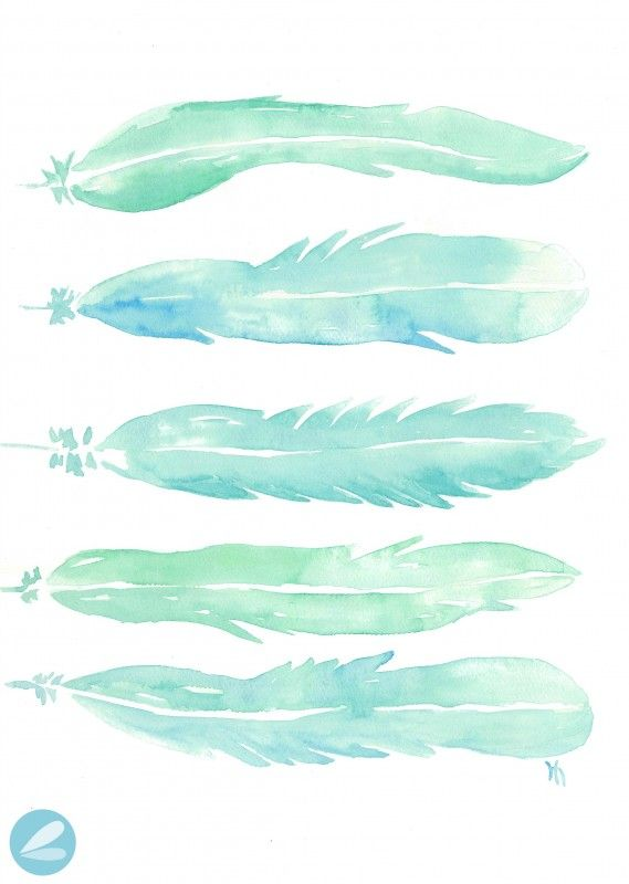 10 Free Watercolor Printables Watercolor Feather Watercolor