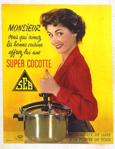 Cocotte seb annee50 pinteres for Femme au foyer 1960
