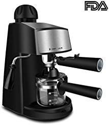 Espresso Machine 3.5 Bar 4 Cup Espresso Maker Cappuccino Machine with Steam Milk Frother and Carafe #espressomaker