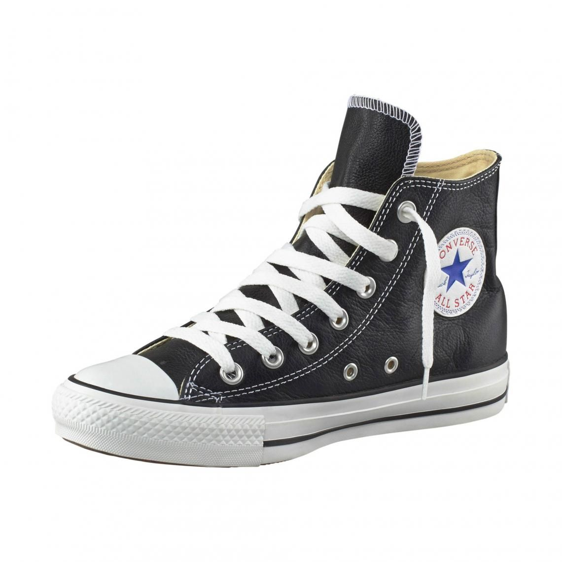 Baskets montantes Converse All Star Basic Leather cuir homme ...