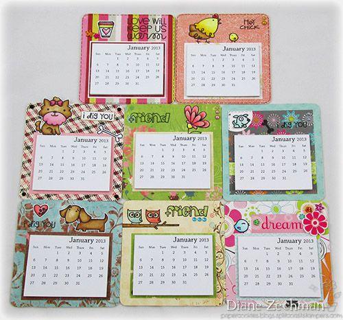 Mini Magnetic Calendars Calendar Craft Scrapbook Calendar