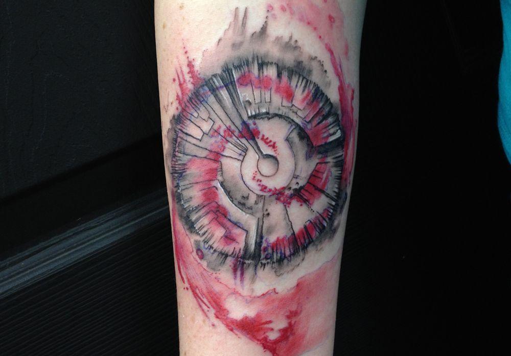 Hills Plot Watercolor Tattoo Watercolor Tattoo Tattoos Surreal