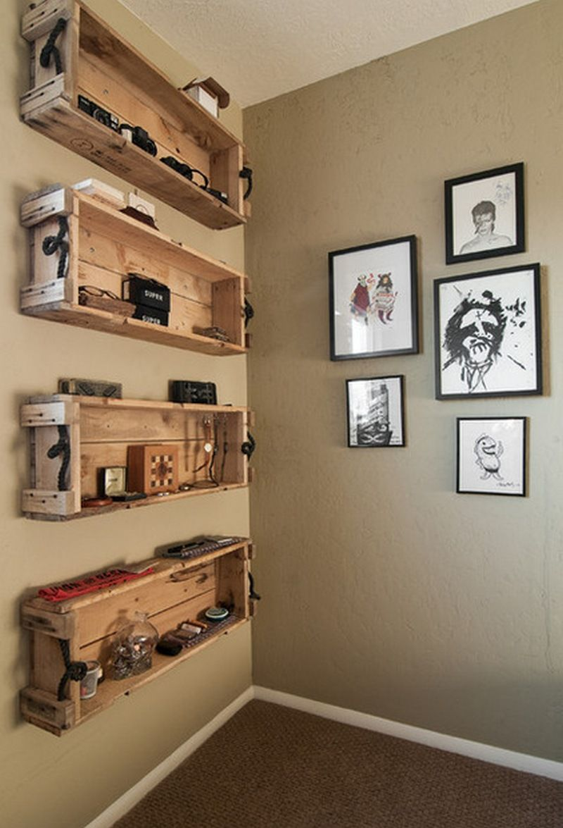 Repurposed wooden crate ideas crate shelves diy but for Diy wooden crate ideas