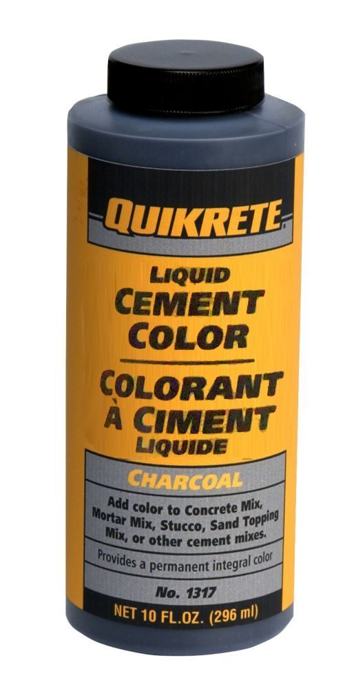 Liquid Cement Color Charcoal 296ml Cement Color Cement Color Mixing