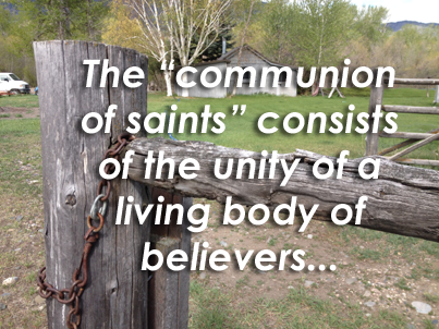 """This discussion will progress through the third part of the Apostle's Creed which states: """"I believe in the Holy Ghost, the Holy Catholic Church, the communion of saints, the forgiveness of sins, the resurrection of the body, and the life everlasting."""" (Heidelberg Catechism number 23)."""