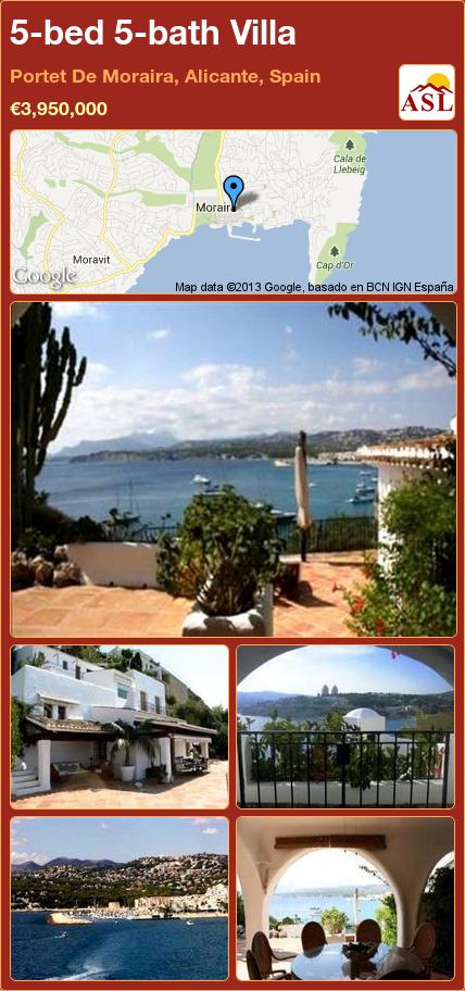 5-bed 5-bath Villa in Portet De Moraira, Alicante, Spain ►€3,950,000 #PropertyForSaleInSpain