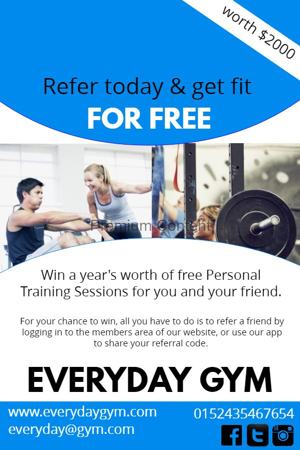 motivational gym membership poster template