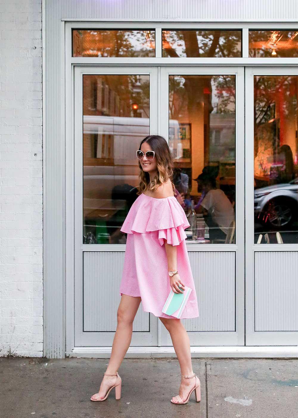 Pink Off Shoulder Dress Style Charade Off Shoulder Dress Off Shoulder Outfits Off Shoulder Evening Dress [ 1400 x 1000 Pixel ]