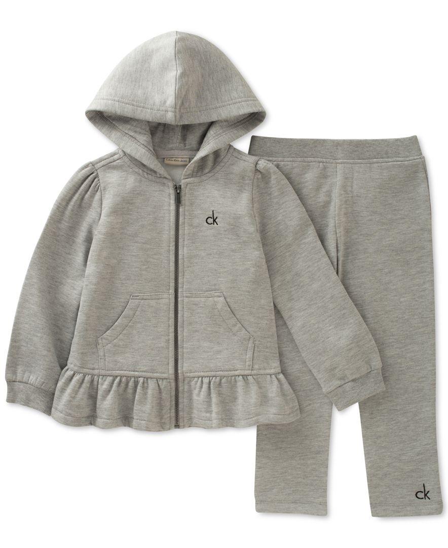 e7d3c4a91d Calvin Klein 2-Pc. Hooded Jacket   Pants Set