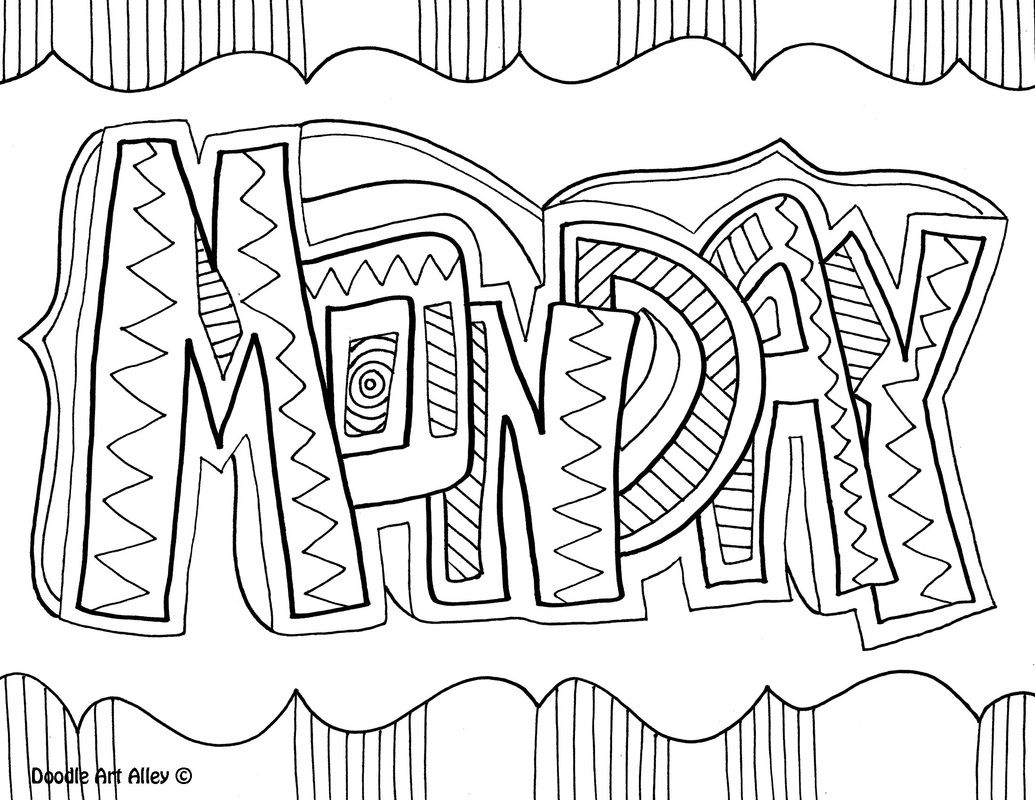 Coloring pages furniture - Monday Coloring Page