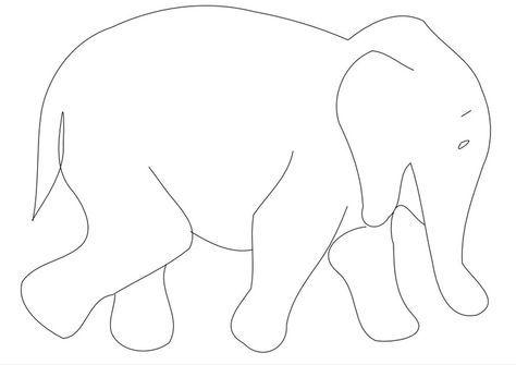 Malvorlage Elefant Mehr Malvorlagen Vorlagen Zeichenvorlagen
