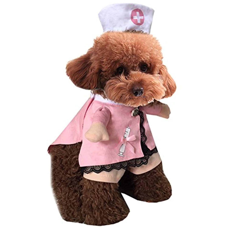 Mikayoo Pet Dog Cat Halloween Costume Doctor Nurse Costume
