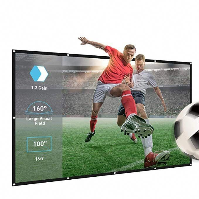 Projector Screen,100inch 16:9 Portable Home Theater ...