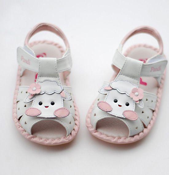 Toddler Girls Boys White Sandals Soft