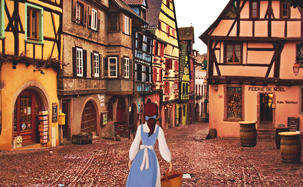 Beauty and the beast riquewihr alsace f ire works Colmar beauty and the beast