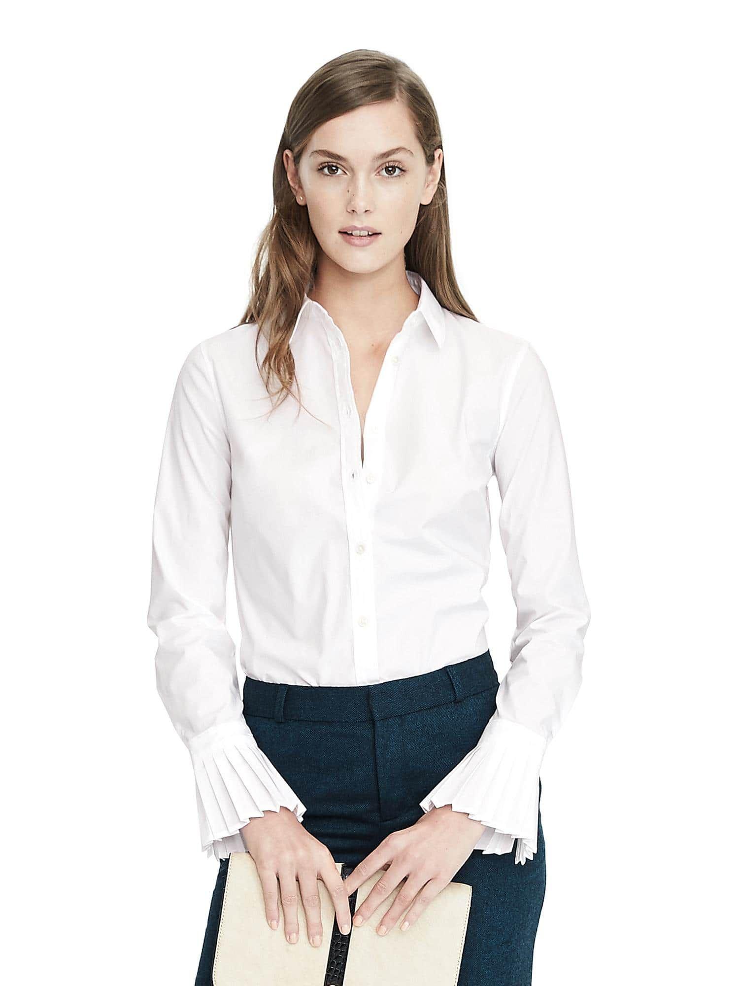 b5e8cf4d5790 Banana Republic Riley-Fit Tailored Pleated Cuff Shirt