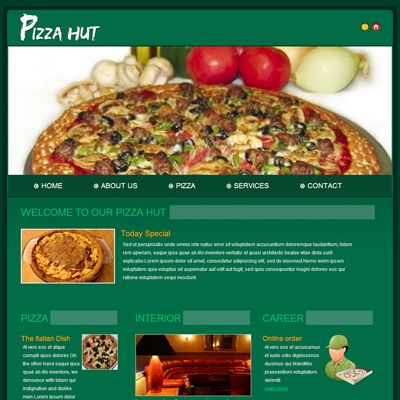 Pizza Hut Hotels And Restaurants Website Template Pizza Design