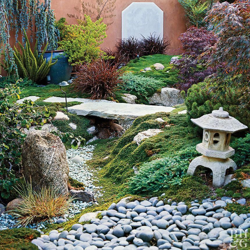 Sloping Garden Ideas And Optimal Solutions For Landscape: Dry Creek Landscaping Rocks Sculpture Home
