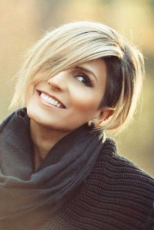 Chic Kurze Haare Ideen Für Runde Gesichter Chic Für Gesichter