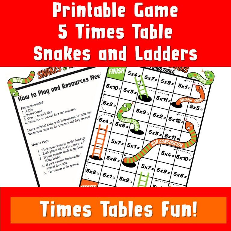 Pin On Snakes And Ladder Multiplication Game