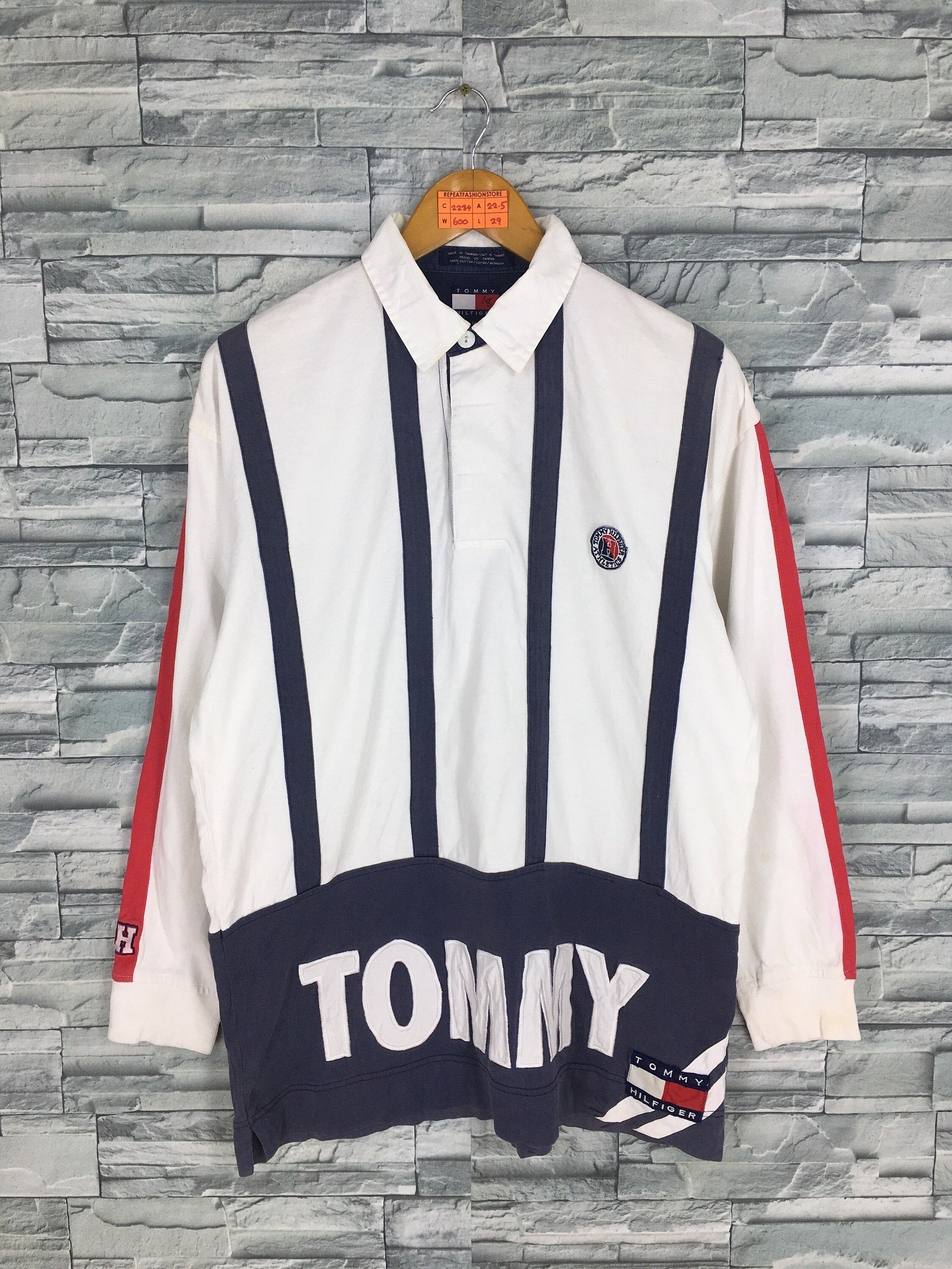 Vintage Tommy Hilfiger Rugby Shirt Medium 90 S Tommy Spell Etsy Rugby Shirt Vintage Tommy Hilfiger Polo Rugby Shirt [ 3000 x 2250 Pixel ]