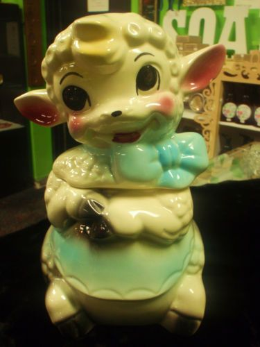 1950'S Cookie Jars Magnificent RARE Vintage Lamb American Bisque Cookie Jar 60'S Vintage