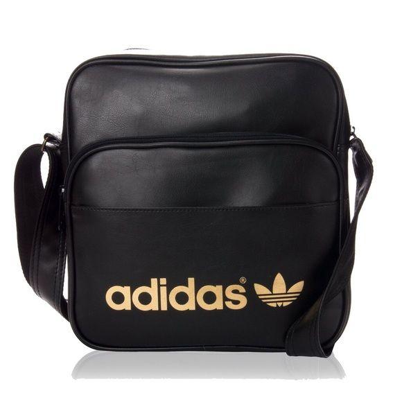 Adidas Shoulder Bag NWOT- Black with Gold Adidas logo. Dimensions  30 cm x 58448c6a0667f