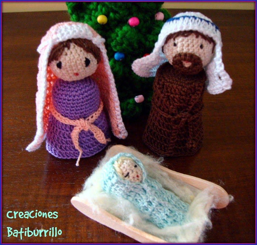 Belén a crochet paso a paso: ¡Con patrón!   Navidad, Pesebre y ...
