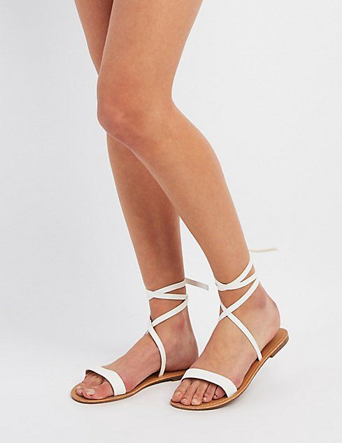 Strappy Ankle Wrap Sandals | Ankle wrap