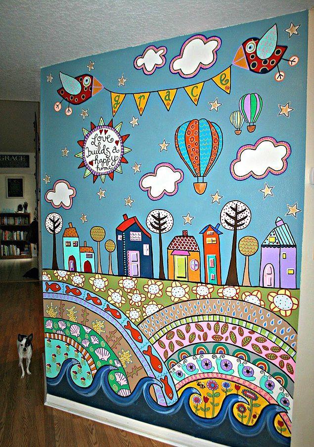 Kum Beji Şampanya Rengi Sizi de Sıkmadı mı? İşte Duvarlarınız İçin 35 Alternatif Fikir #painting