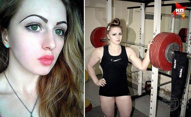 The most beautiful girl. Russian beauty Iulia Vince. Barbie-bodybuilder.