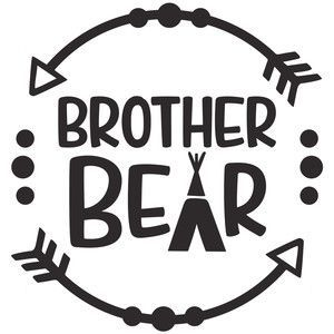 Download Brother bear logo | Bear decal, Silhouette design, Brother ...