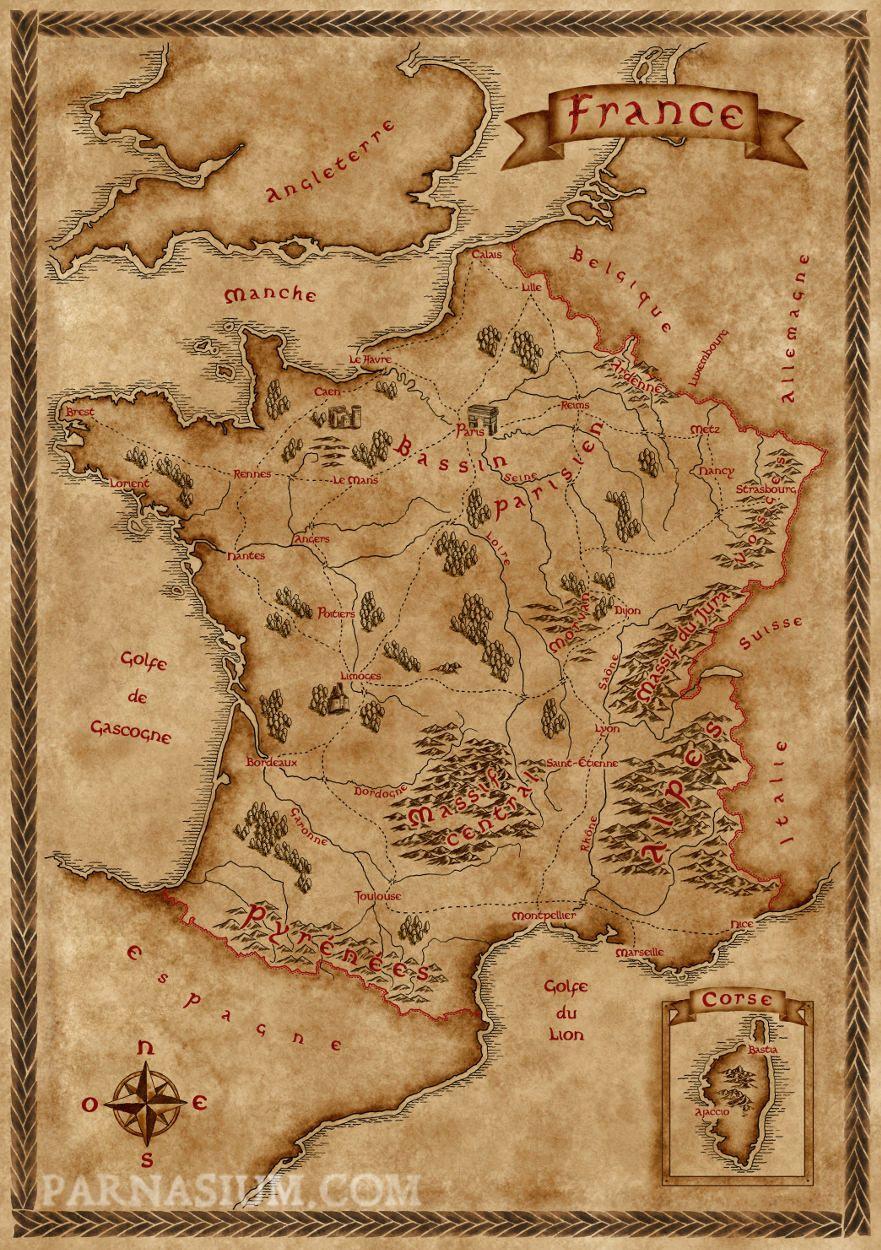 Fantasy Inspired Map Of France Album On Imgur Cartes France