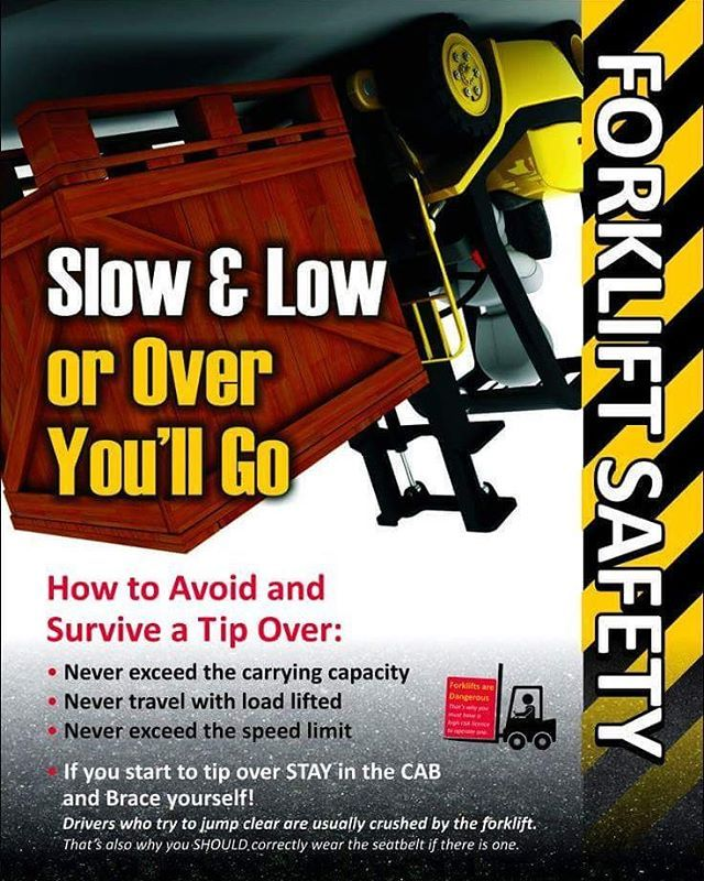 A great reminder in forklift safety Safety posters
