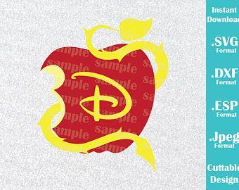 Good INSTANT DOWNLOAD SVG Disney Inspired Disney Descendant Live Evil Logo For  Cutting Machines Svg, Esp