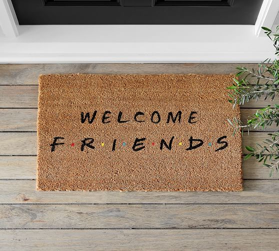 The One With The Home Goods Line Shop The New Friends X Pottery Barn Collection Door Mat Pottery Barn Interior Barn Doors