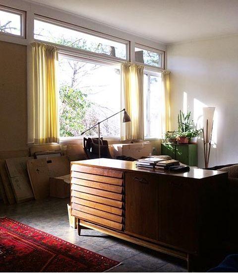 Modern Living Room Window Design retro design dilemma: window treatments for lori's mid century