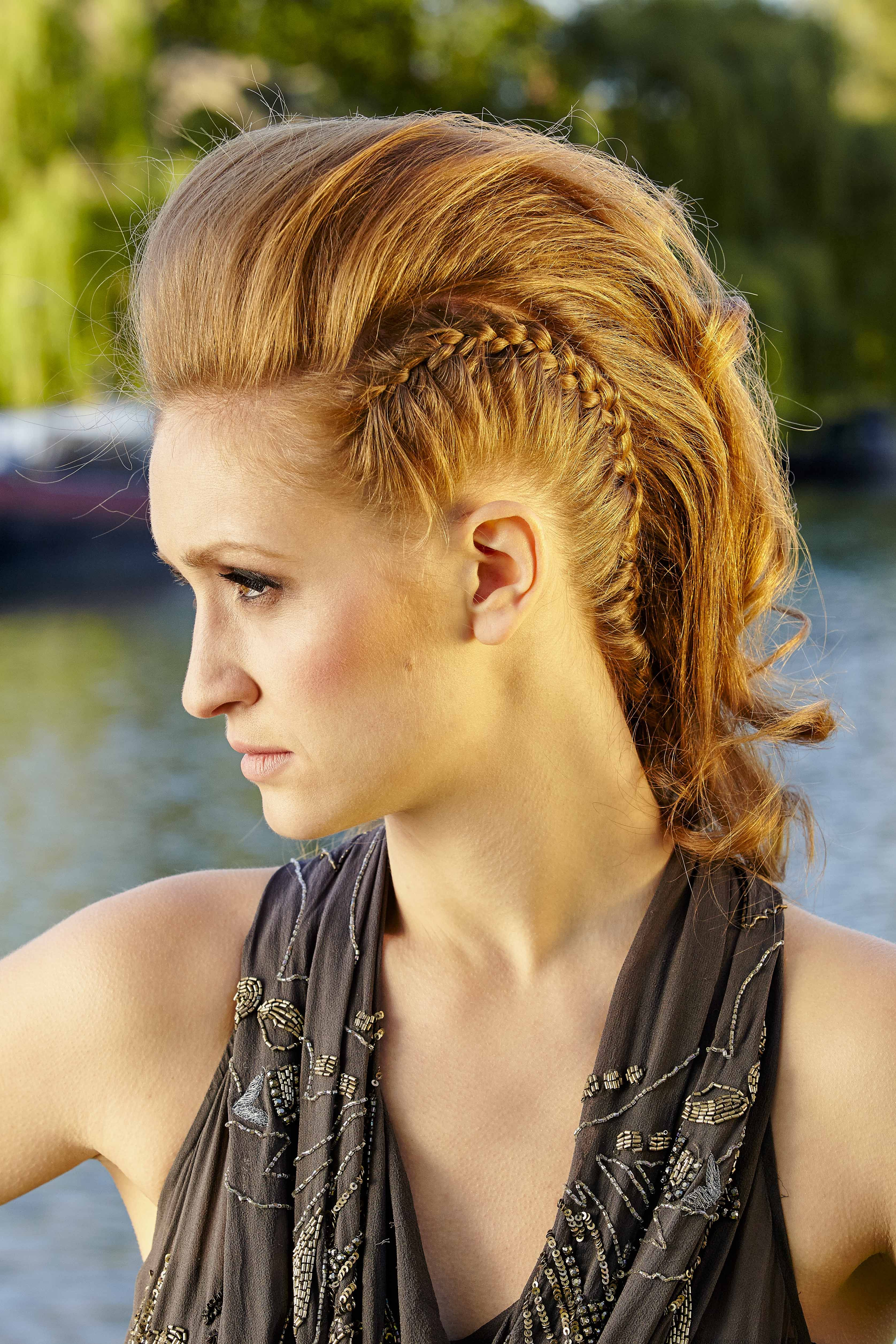 Who doesnut love a bit of punk rock back combed mohawk with plaits