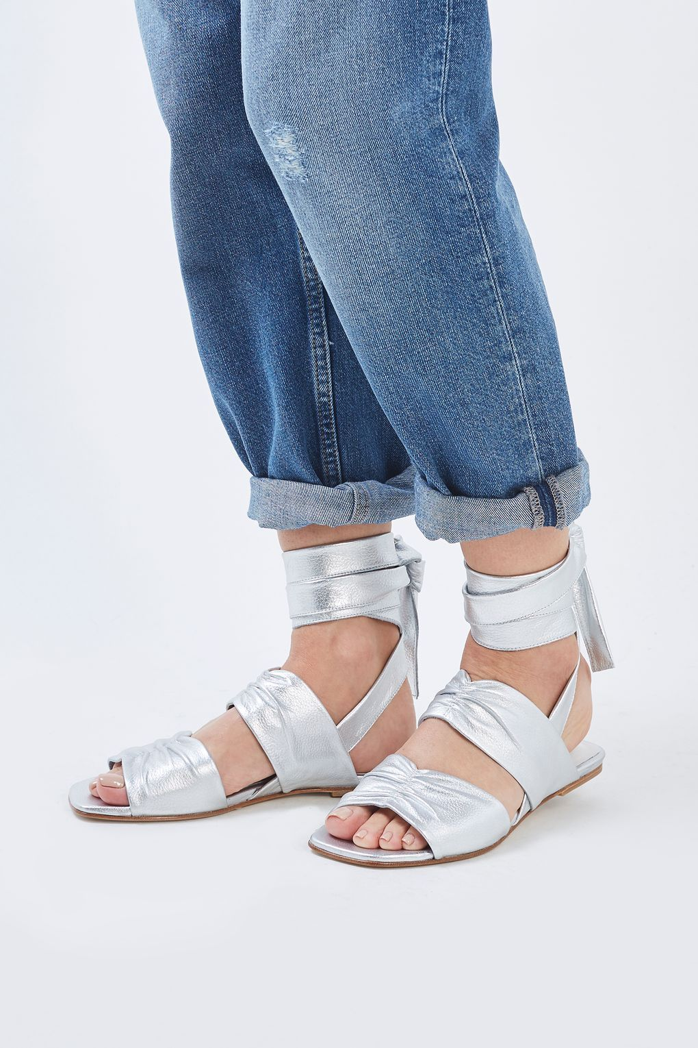 Tie Flat Sandals by Molly Goddard x Topshop