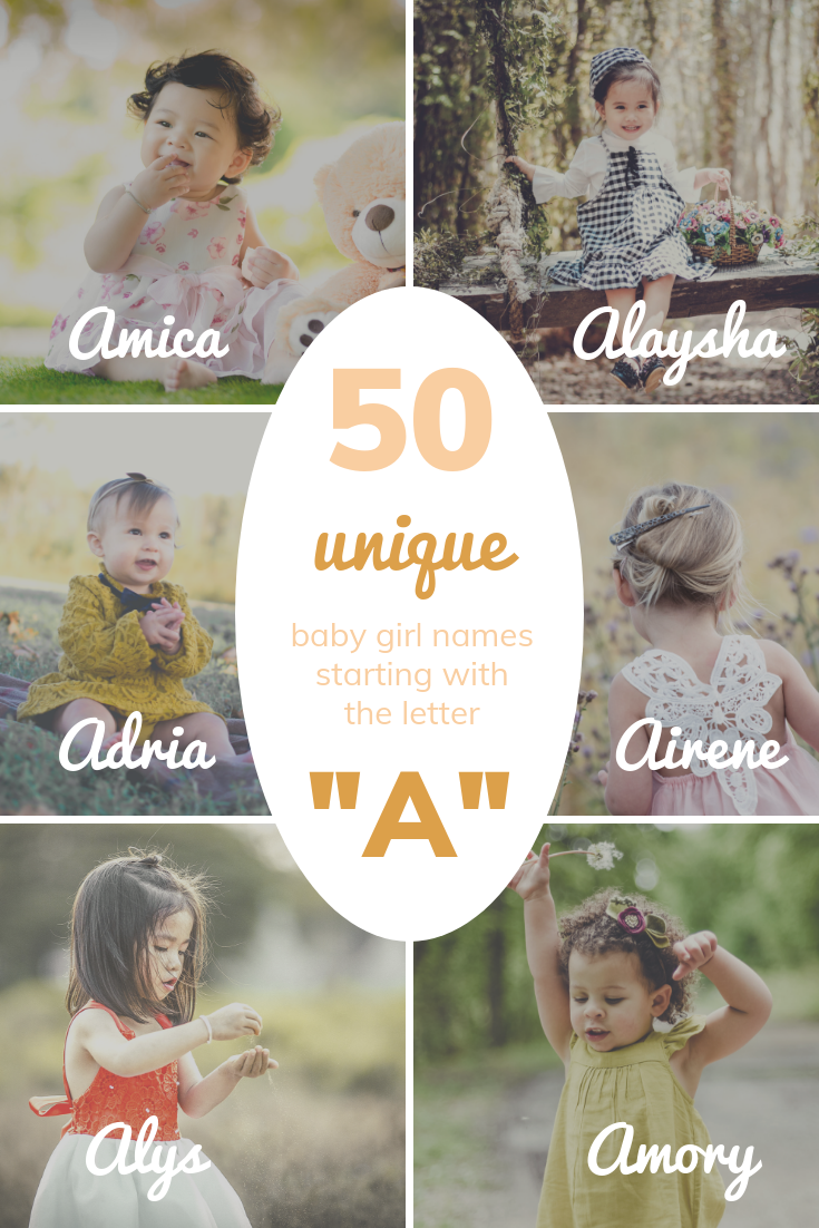"""50 UNIQUE Baby Girl Names Starting with """"A"""""""