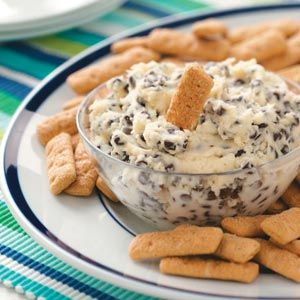 Chocolate Chip Dip - Chocolate chip dip recipe, Chip dip recipes, Chocolate chip dip, Food, Desserts, Yummy food - Is there a kid alive (or a kid at heart) who wouldn't gobble up this chocolate chip dip with graham crackers  It beats dunking them in milk, hands down! You can also try it with apple wedges  —Heather Koenig, Prairie du Chien, Wisconsin