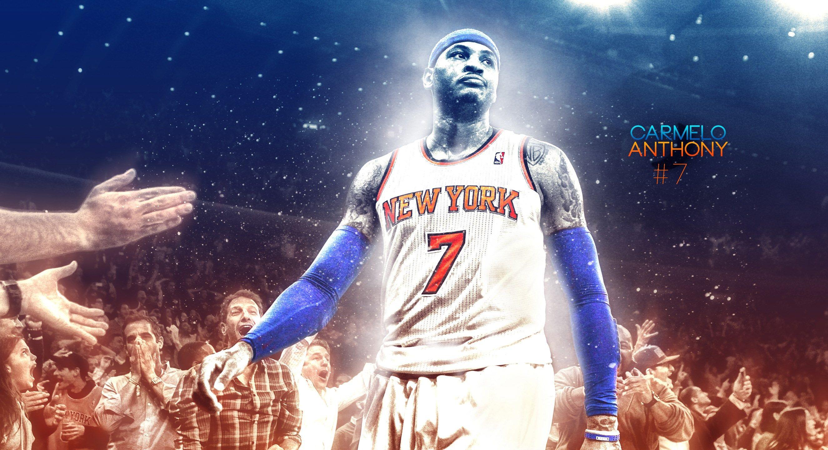 Carmelo Anthony New York Knicks Background Carmelo Anthony Anthony Carmelo Anthony Wallpaper