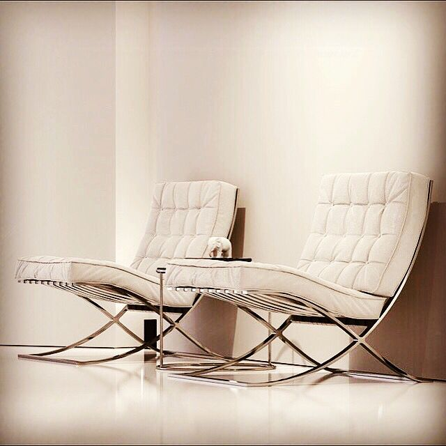 #Barcelona Chair - Designed by #Mies van der Rohe - 1929 - bauhaus-movement.com | periods of design | Pinterest | Bauhaus Vans and Interiors & Barcelona Chair - Designed by #Mies van der Rohe - 1929 - bauhaus ...