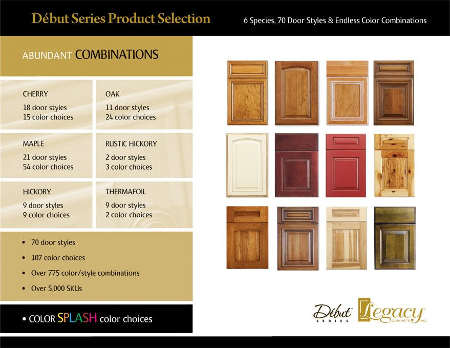 Legacy Cabinets - Debut Series Product Overview, Kitchen ...