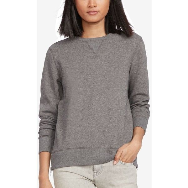 Polo Ralph Lauren Side-Zip Sweatshirt ($165) ❤ liked on Polyvore featuring  tops