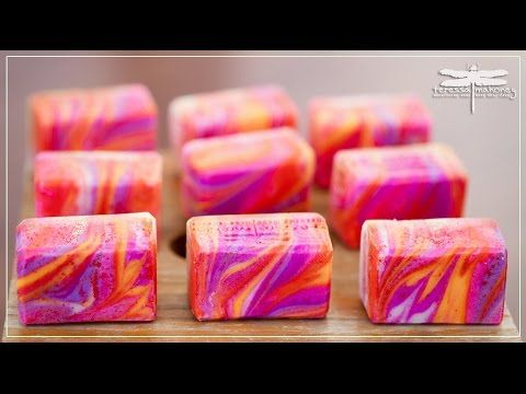 Making Ruby Red Soap - YouTube | soap you tube | Homemade