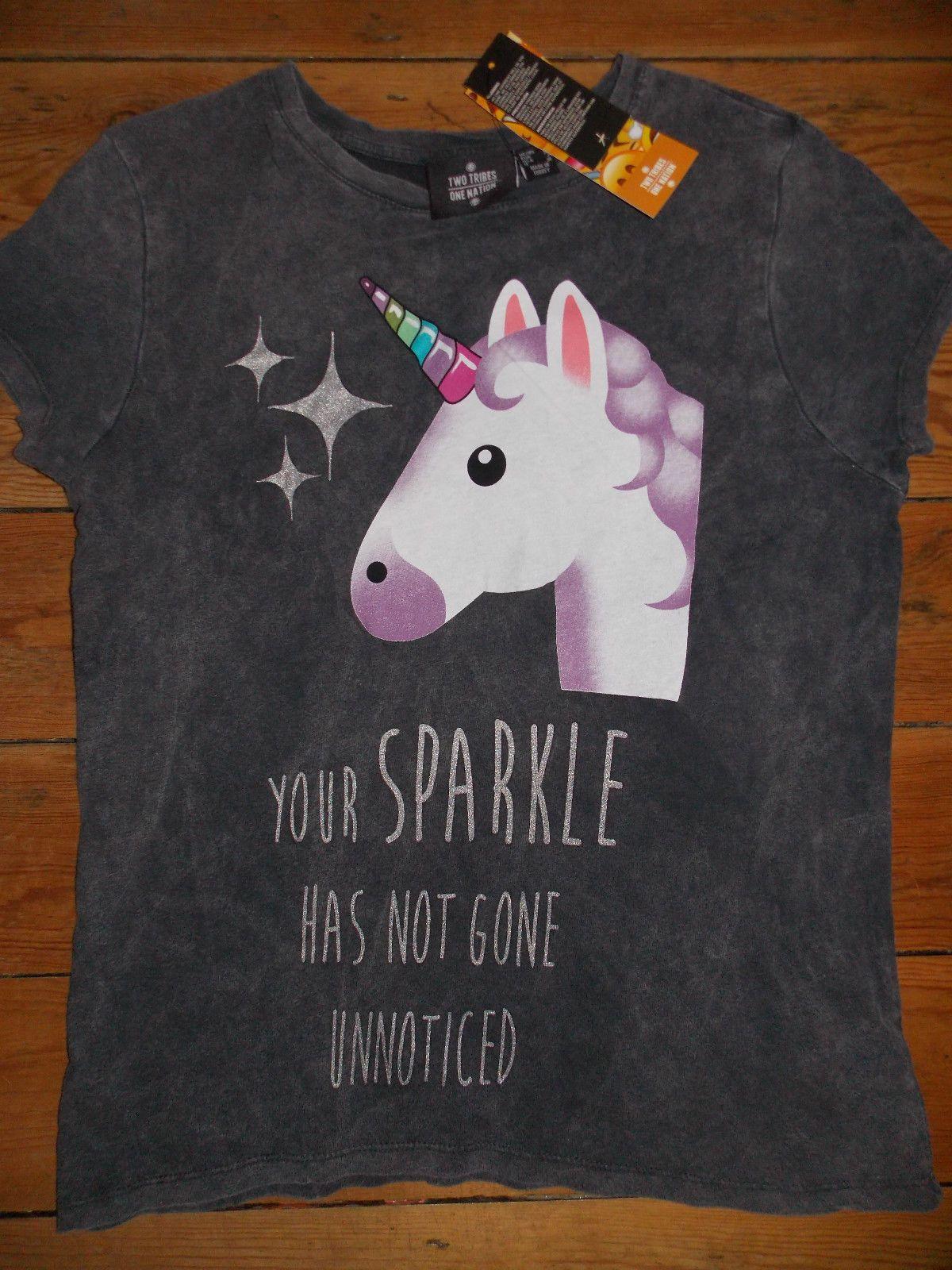 1c31cf65 UNICORN EMOJI Ladies T Shirt Primark YOUR SPARKLE HAS NOT GONE ...