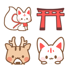 White Fox Deer Rabbit Three Monkeys Boar Lucky Cat Japanese Lucky Seasonal Objects Celebrate Talk Can A Cute Anime Cat Cute Easy Drawings Animal Doodles