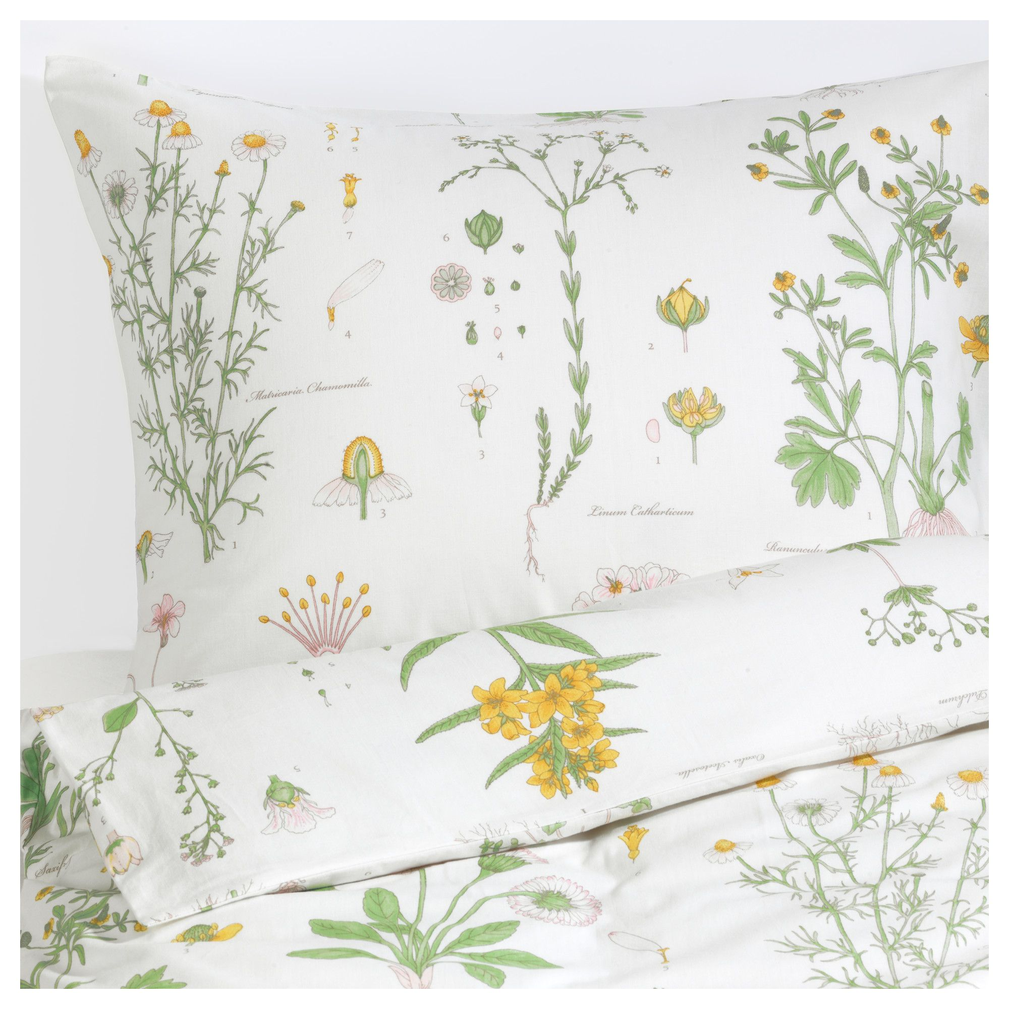 strandkrypa duvet cover and pillowcases floral patterned white