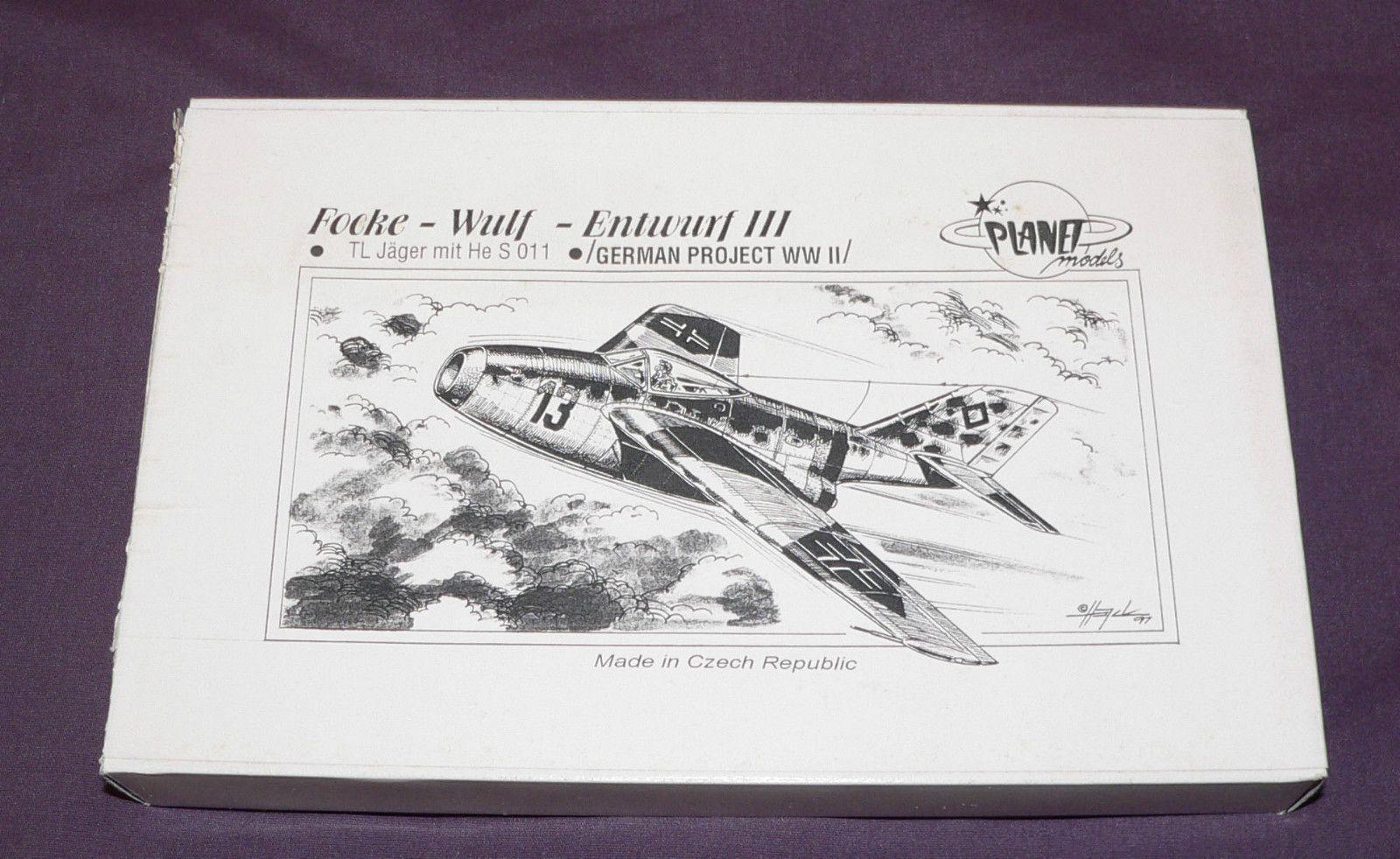 1 72 Planet Models Entwurf III TL Jager Mit He s 011 LUFT46 Luftwaffe Jetfighter | eBay